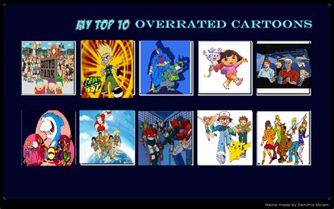 Top 10 Most Overrated Cartoons By Cmtvable1 On Deviantart