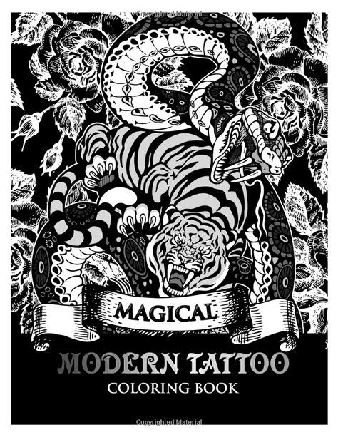 Amazon.com: Modren Tattoo Coloring Book: Modern and Neo