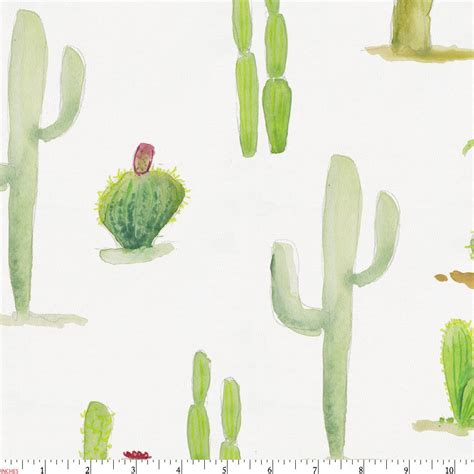 home design comforter watercolor cactus fabric by the yard fabric