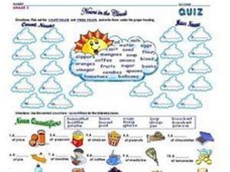 count nouns mass nouns and noun quantifiers 2nd 3rd grade worksheet lesson planet