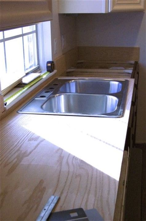 plywood countertops kitchen pinterest furniture