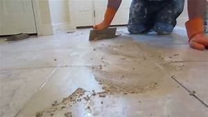 How to grout a tile floor youtube for How to remove grout from floor tile