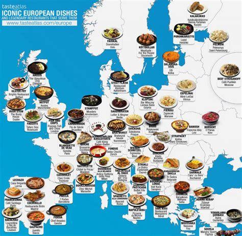 Dažādu valstu populārākie ēdieni apvienoti ģeogrāfijas ...