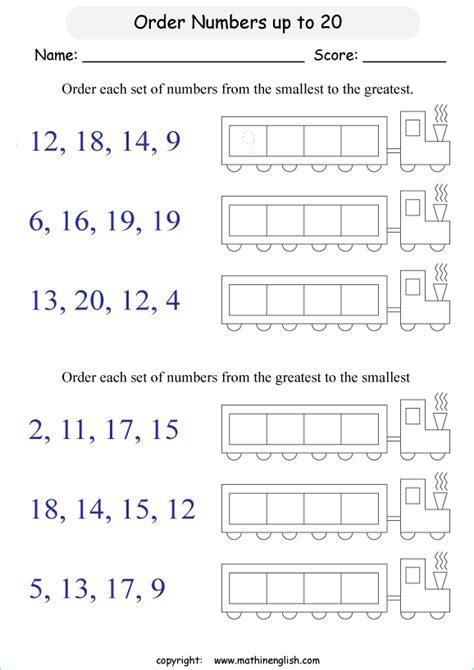 order  numbers    printable grade  math worksheet