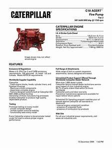 C18 Fire Pump 597 Bkw 800 Bhp 1750 Rpm Pdf