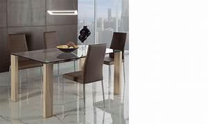 Table à Manger Verre Et Bois : table a manger verre moderne ~ Teatrodelosmanantiales.com Idées de Décoration