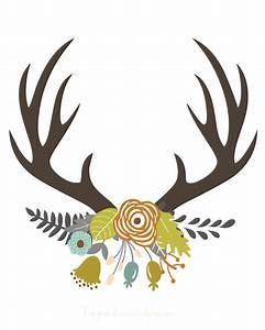 fall antler art free printable | Antlers and Printing