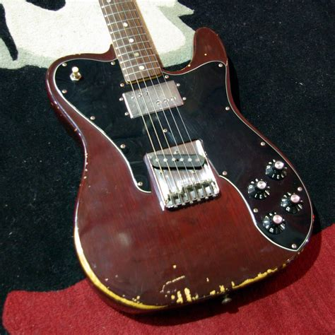 fender  telecaster custom rare brown finish including tweed case wesellyourguitarcom