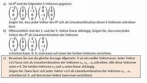 Momentane änderungsrate Berechnen : ben tige hilfe bei vektoren linearkombination beweis mathelounge ~ Themetempest.com Abrechnung