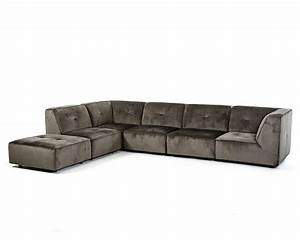 modern sectional sofa in dark grey fabric 44l5925 With modern sectional sofa