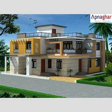 3d Exterior View Of A Building Designed By Apnaghar To