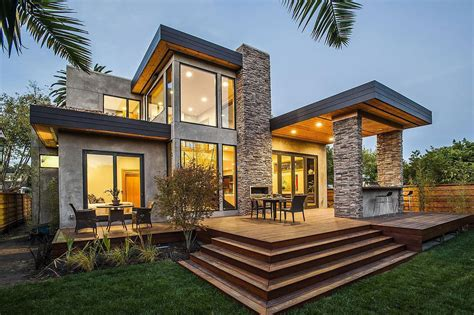 Rustic And Modern Home In Burlingame, California