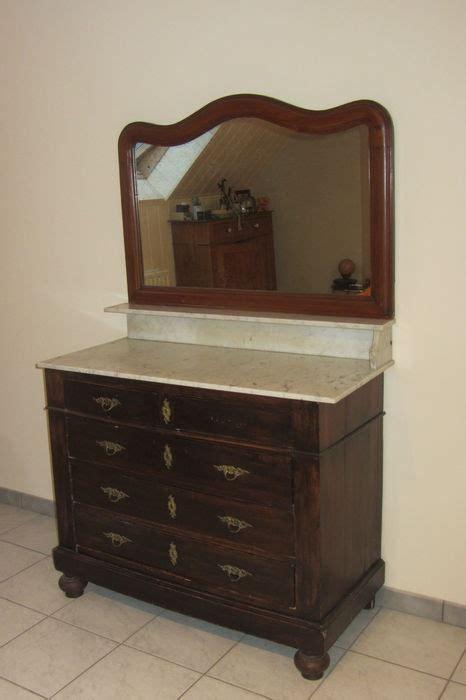 ancienne commode avec miroir montures originales et marbre catawiki