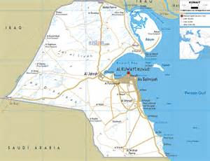 Road Map of Kuwait - Ezilon Maps