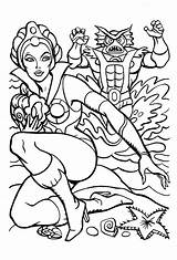 Coloring Pages Teela Universe Masters Ra Cartoon Colouring He She Books Thundercats Mer James Eatock Many Drawings Sheets Colour Eighties sketch template