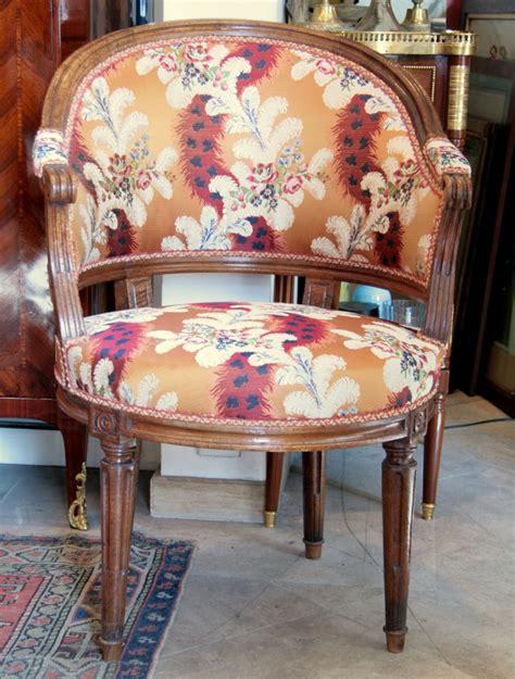 fauteuil de bureau louis xvi en noyer fauteuils