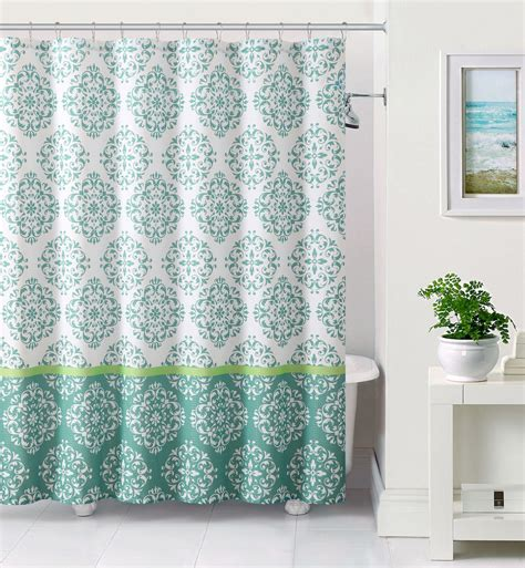 blue and white shower curtain white and blue embossed fabric shower curtain moroccan