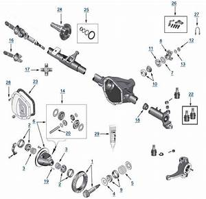 Diagram Jeep Front Axle Seals