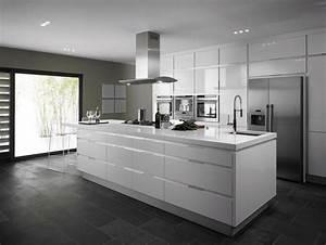 cuisine blanche sous le feu des projecteurs en 55 super With cuisine blanc laque avec ilot