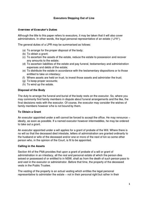 letter appointing estate executor letter  appointment
