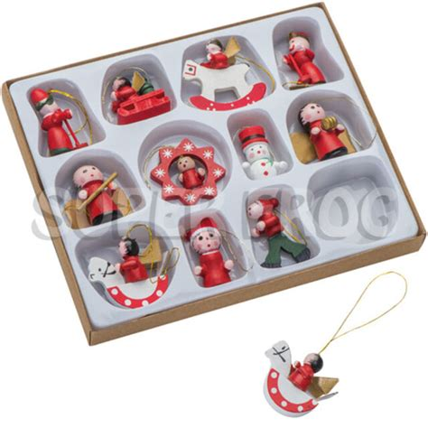 wooden christmas tree decorations traditional rocking