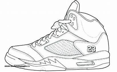 Coloring Shoes Pages Nike Basketball Coloringhome Shoe