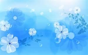 Flower on Blue Wallpaper Desktop Wallpaper | Wallpaper ...