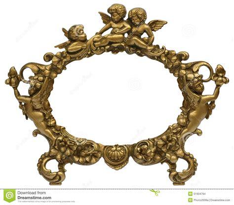 cadre photo ange blanc cadre de tableau d or d ange photo stock image 51904794