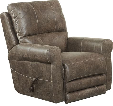 comfortable catnapper faux leather recliner sales