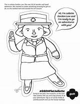 Juliette Low Gordon Scouts Scout Coloring Daisy Clipart Flat Activities Leader Brownie Brownies Lowe Law Crafts Swap Printable Troop Heartland sketch template