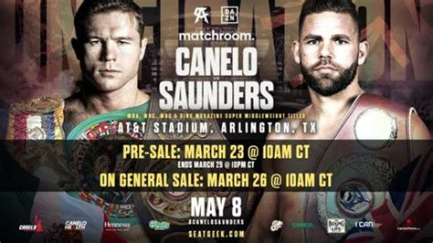 Check spelling or type a new query. Canelo Alvarez vs. Billy Joe Saunders: Fight info, ringwalks, undercard and how to watch on DAZN ...