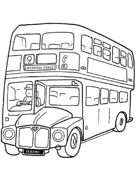 Kleurplaat Autobus by Buses Coloring Pages And Print Buses Coloring Pages