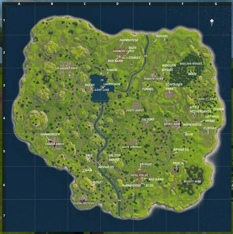 map  fortnite br  added callouts