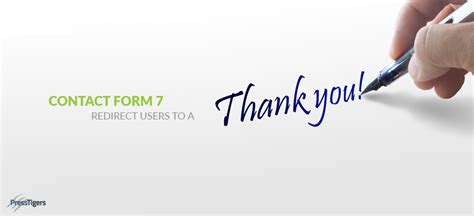 Contact Form Redirect Users Thank You Page