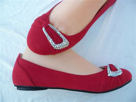 red womens casual flat shoes rck size   ebay