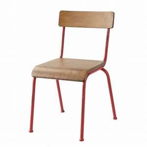 Chaise Bistrot Maison Du Monde : chaise enfant rouge school maisons du monde ~ Melissatoandfro.com Idées de Décoration