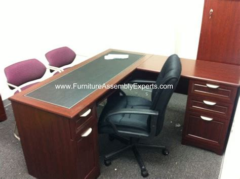 Magellan L Shaped Desk Assembly realspace magellan l shaped desk assembled in washington