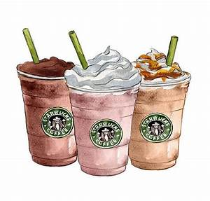 Art Decor Starbucks Coffee Watercolor by ...
