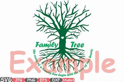 Tree Silhouette Cricut Monogram Cameo Vinyl Hearts