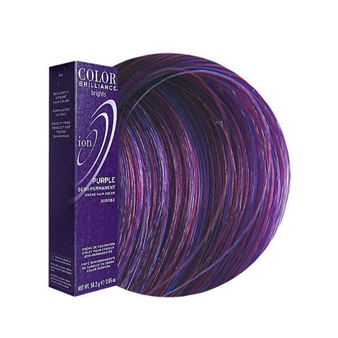 Purple Semi Permanent Hair Color Ion Color Brilliance