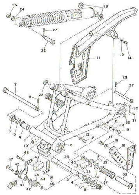 Yamaha Dt 100 Dt175 Enduro Motorcycle Wiring Schematic Diagram by Yamaha Dt100 Parts List Hobbiesxstyle