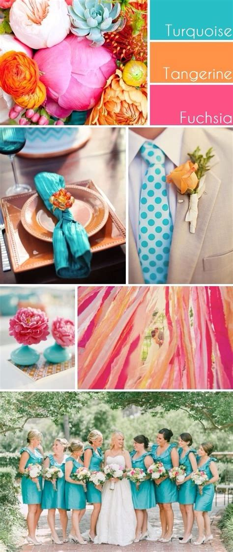 Turquoise, Coral And Hot Pink Yes  My Pinterest Wedding