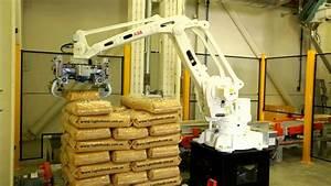 abb robotics palletizing bags at lupin foods australia
