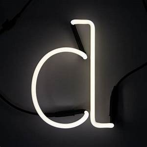 Seletti neon letter d free uk delivery over gbp50 for Large neon letters
