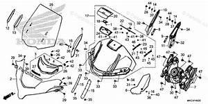 Honda Motorcycle 2018 Oem Parts Diagram For Windscreen