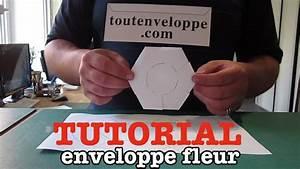 Comment Fabriquer Une Enveloppe : comment faire une enveloppe en papier fleur youtube ~ Melissatoandfro.com Idées de Décoration