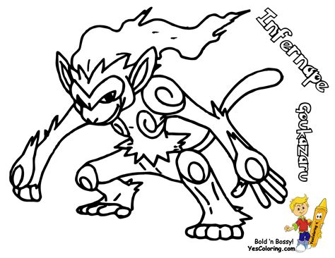 HD wallpapers pokemon coloring pages monferno