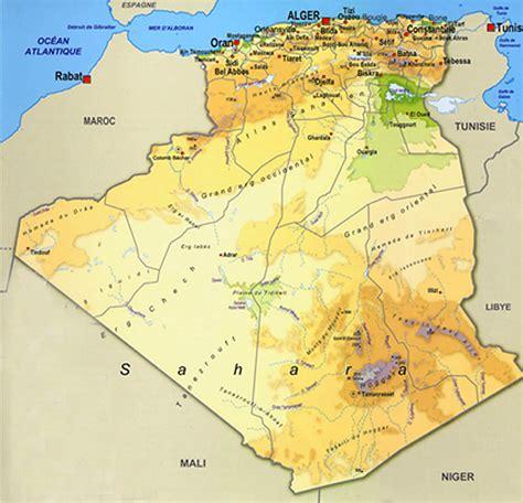 Carte Geographique Villes Algerie by Alg 233 Rie Carte Alg 233 Rie