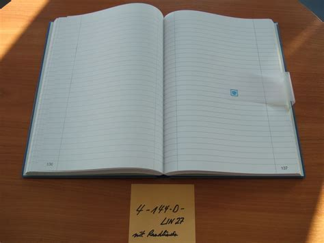 Notiz Kladde Geschäftsbuch Notizbuch A4 liniert kariert