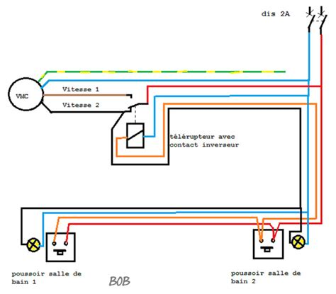 cablage salle de bain brancher une vmc 2 vitesses avec 2 commandes questions branchement 233 lectrique vmc